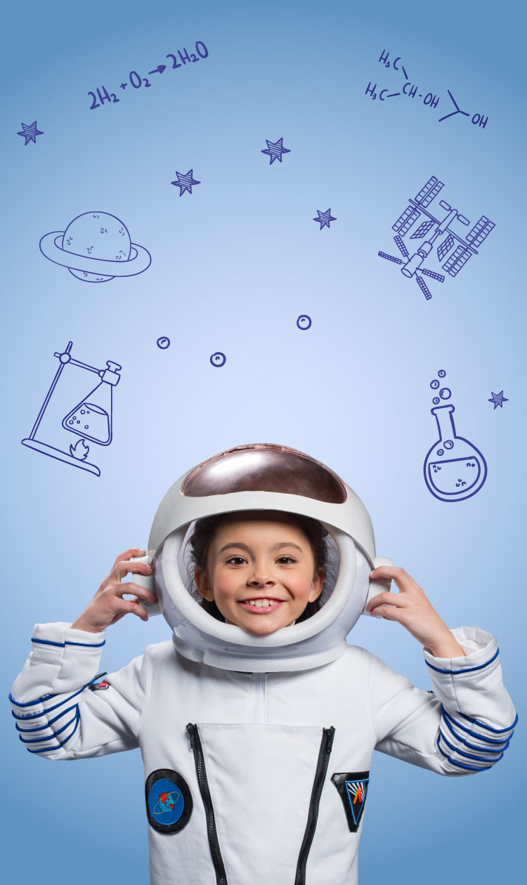 Boy in a space suit